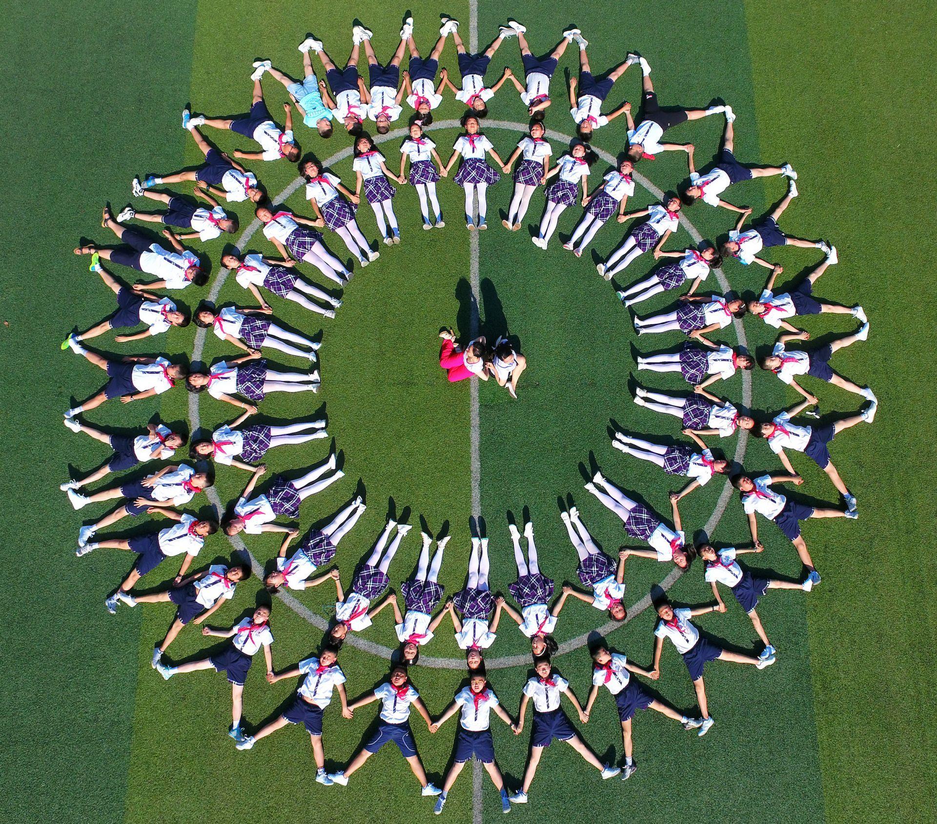 Fotografia aerea della scuola